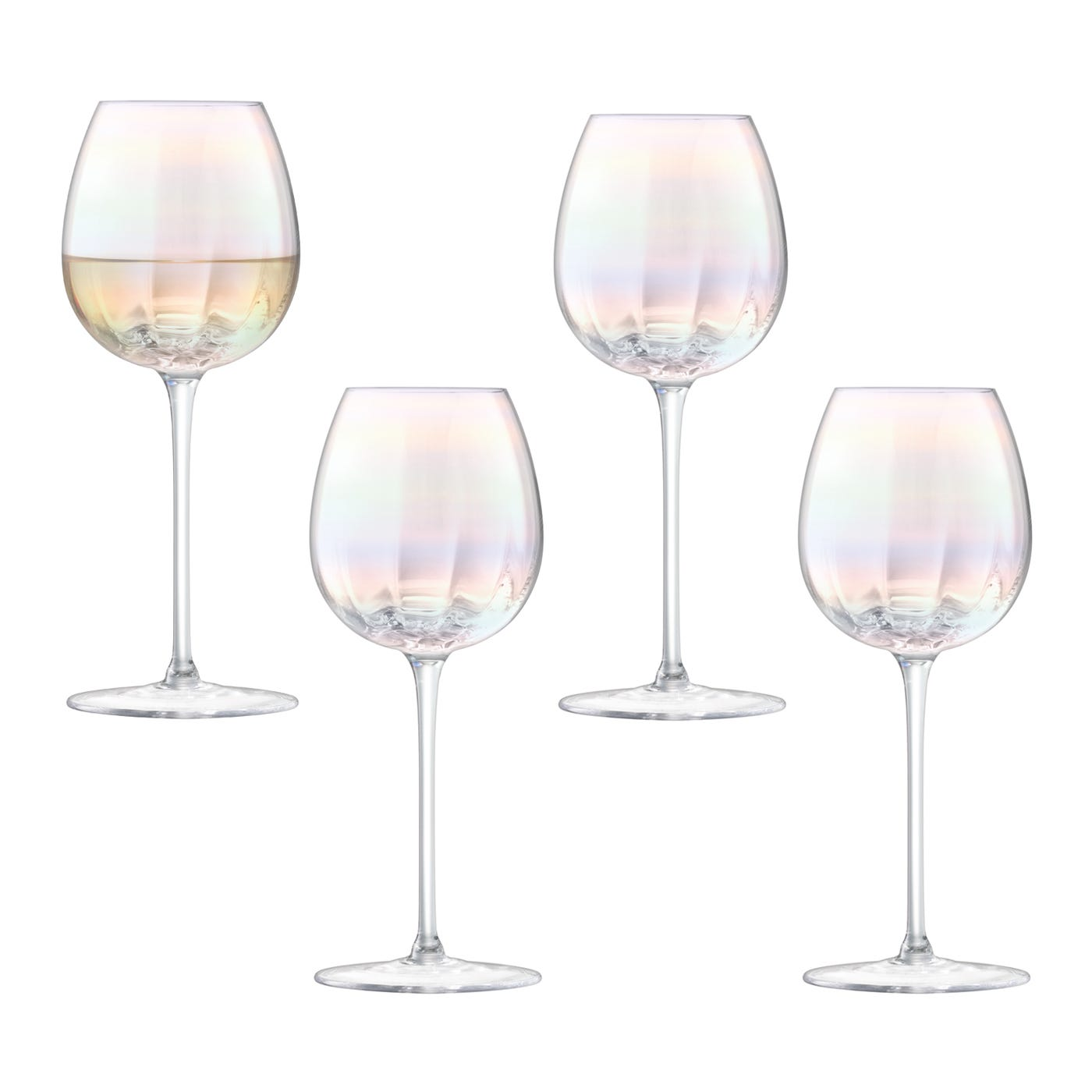Pearl White Wine Glass Set Of 4