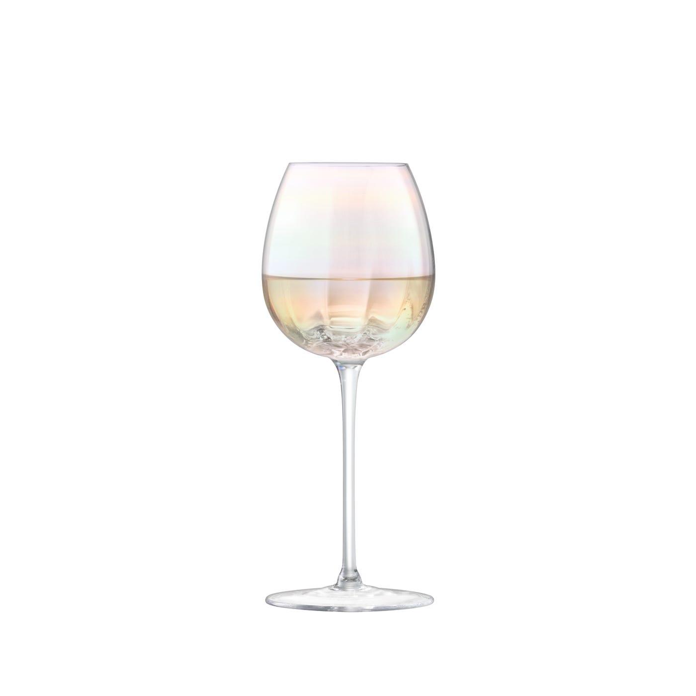 Lsa international pearl white wine glass set of 4 heal s - Beaker wine glasses ...