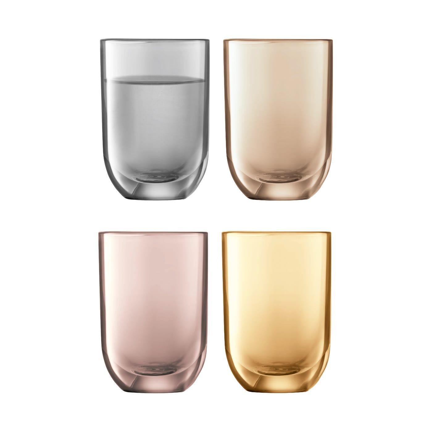 glassware  barware  contemporary  luxury  heal's - polka shot glasses metallics assorted set of