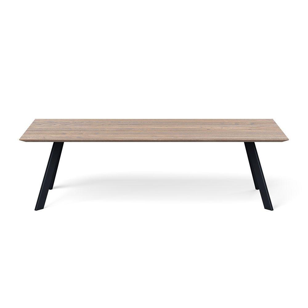 Madrid Table 260x100cm Grey Oak Chamfered Edge Filled