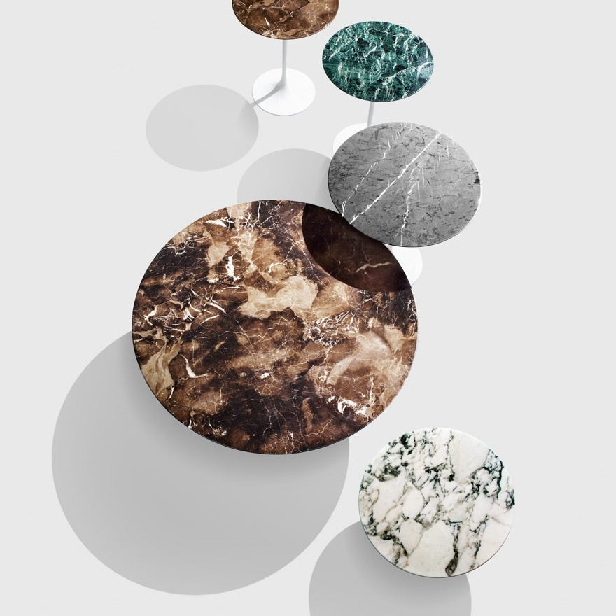 The marble options for the Saarinen range