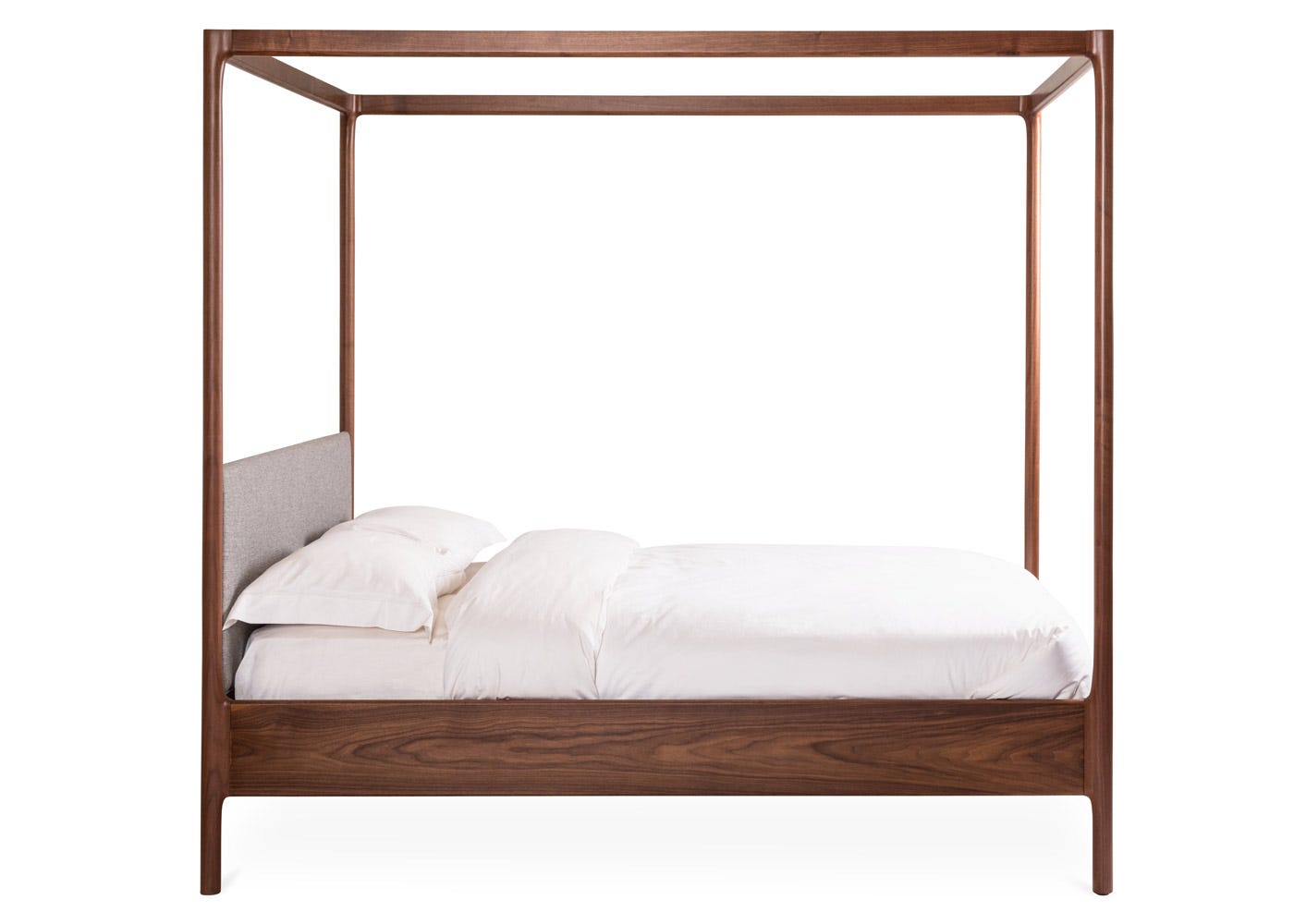 As Shown: Marlow 4 Poster Bed Side Profile