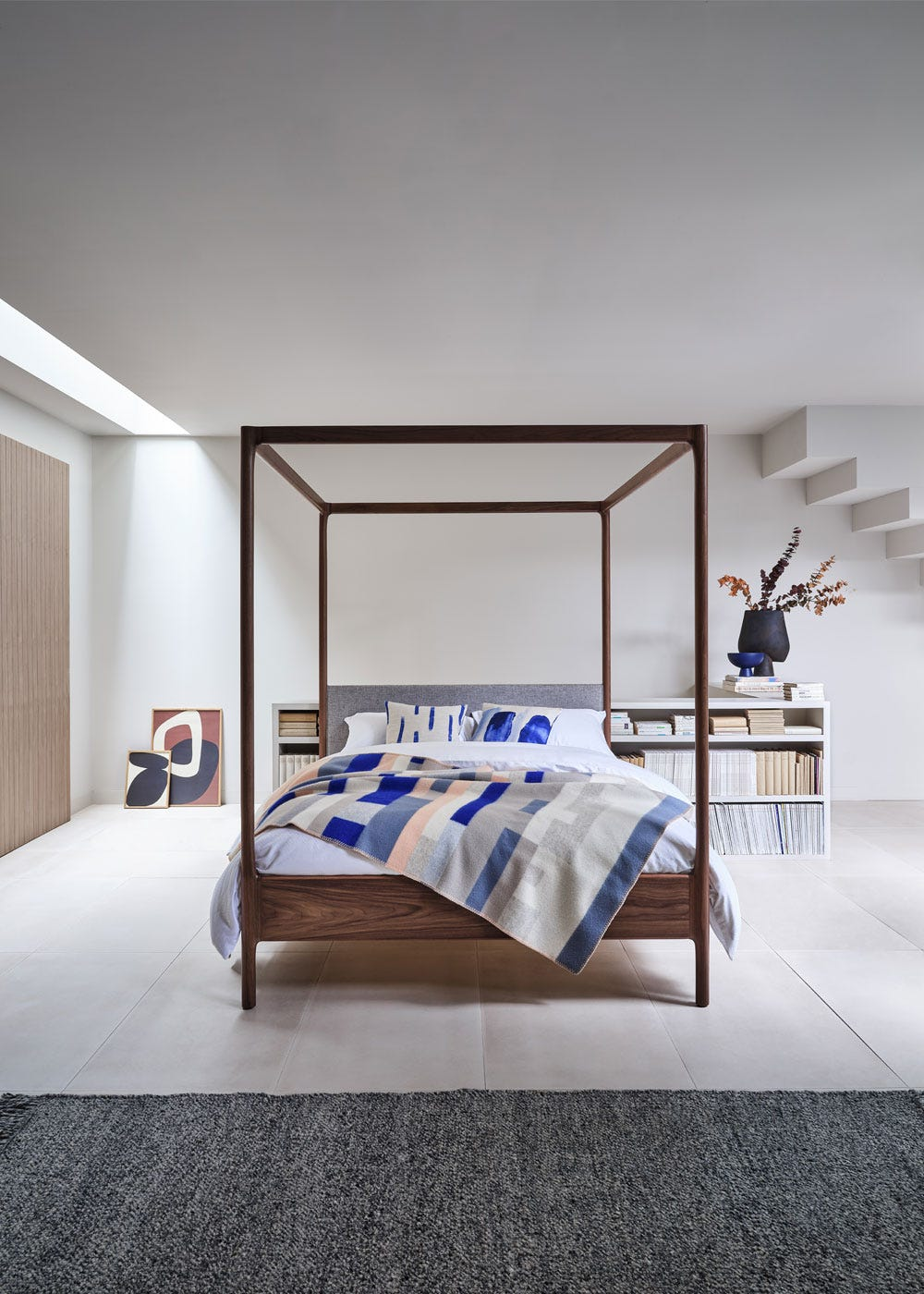 As shown: Marlow 4 poster bed - Front profile.