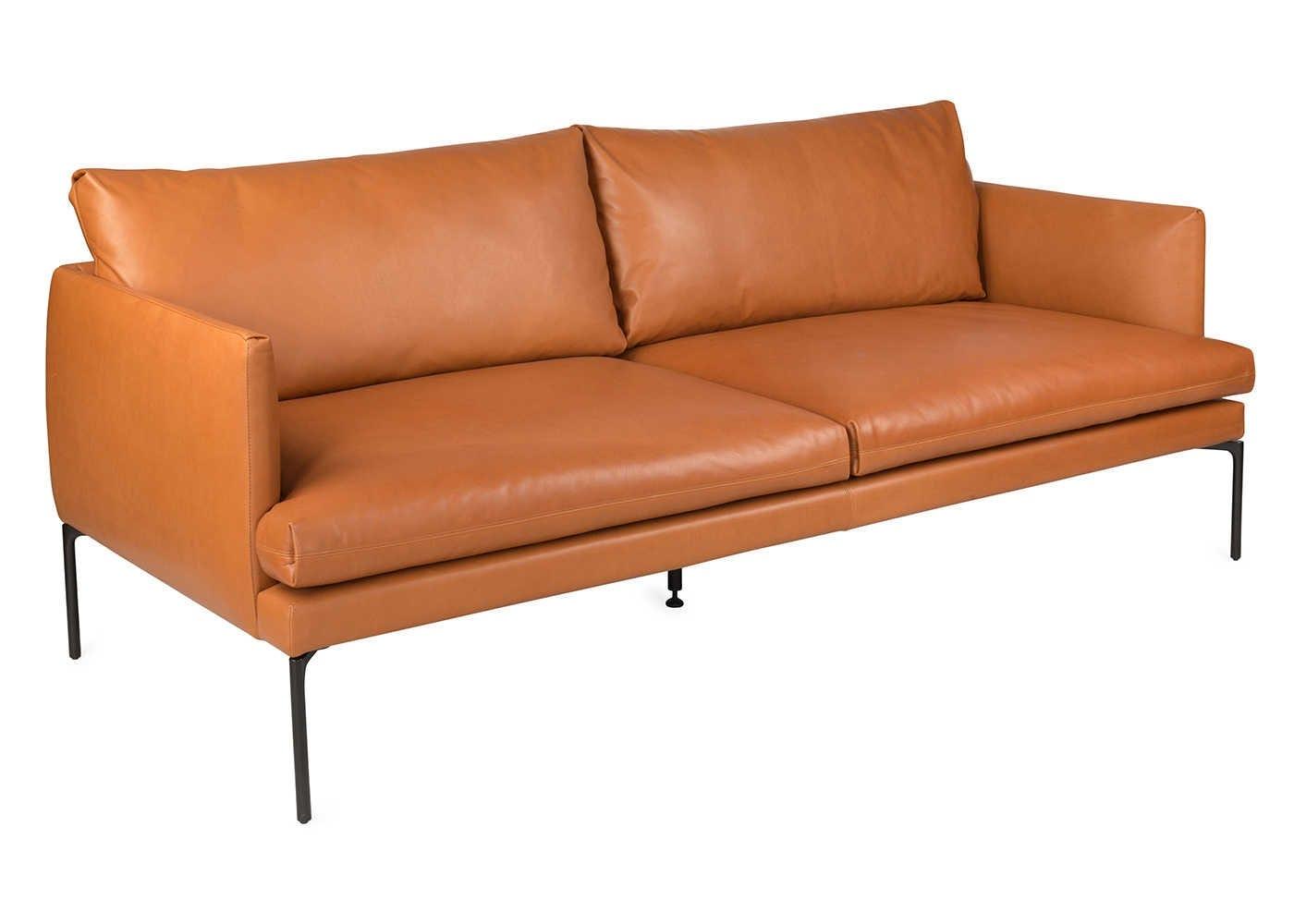 Matera 3 Seater Sofa In Daino Leather Treacle