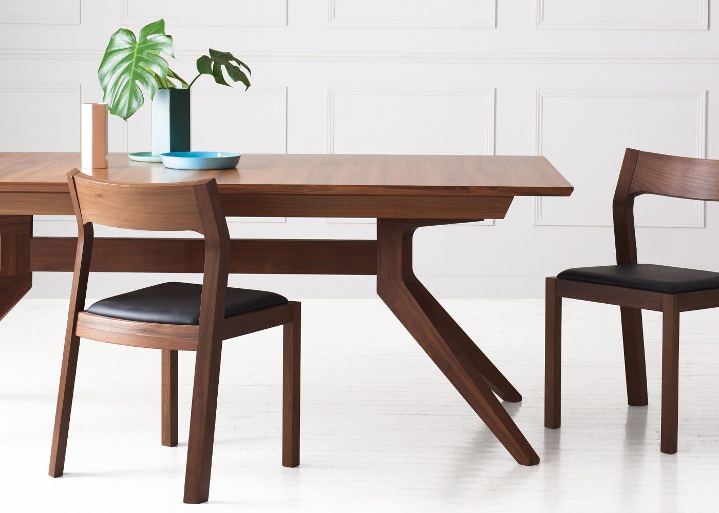 Cross Extending Dining Table by Matthew Hilton in Walnut