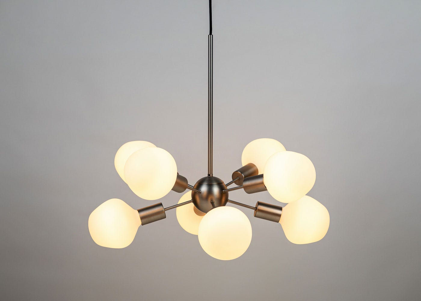 As shown: Satin nickel junction with Tala Enno bulbs