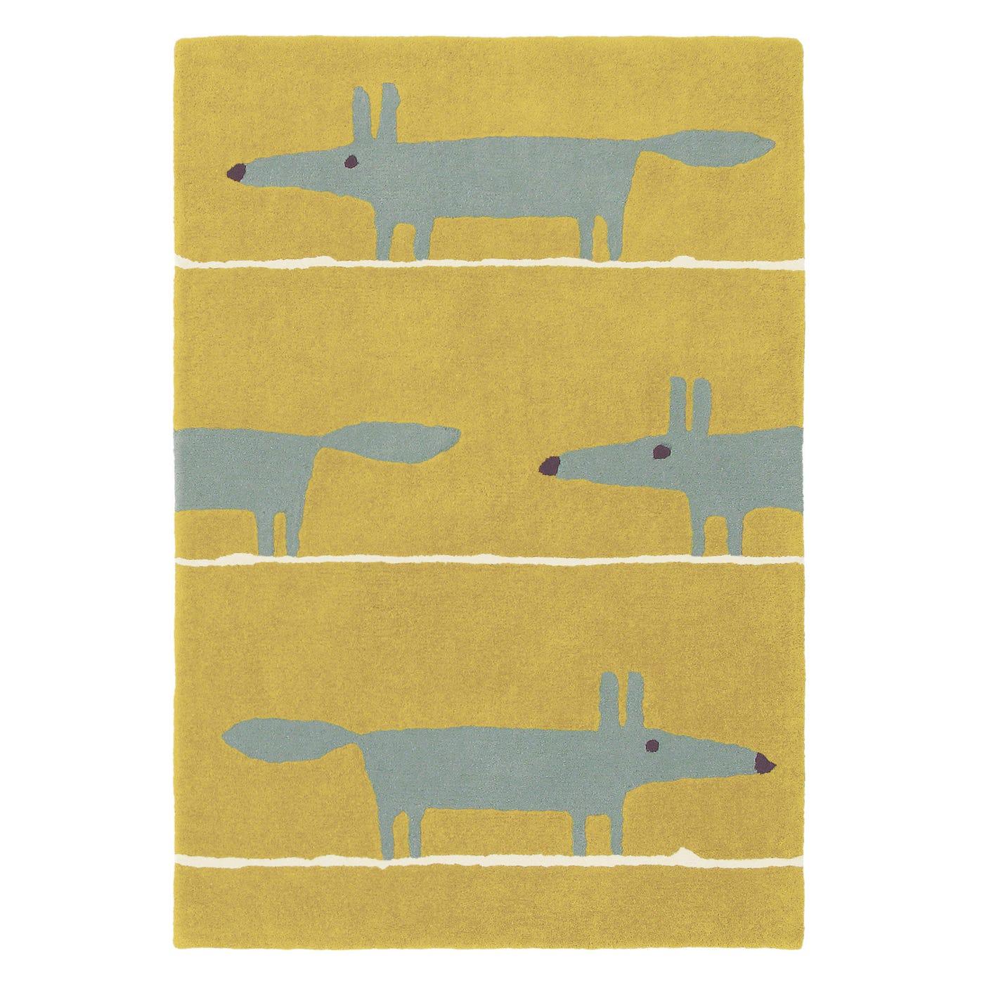 Mr Fox Rug Mustard