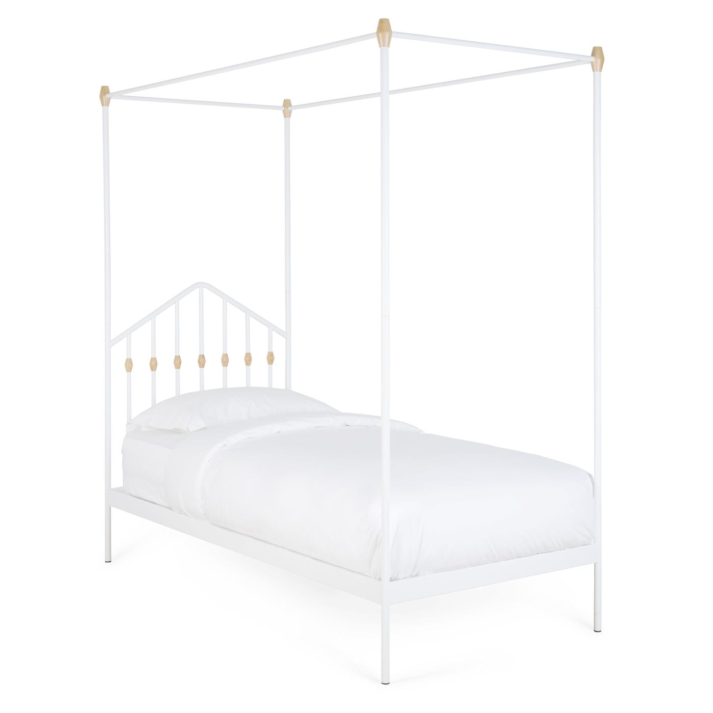 Abacus Four Poster Bed White