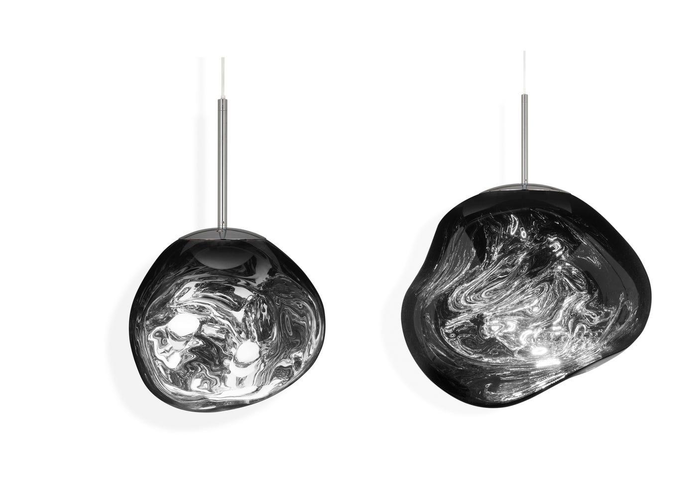 From left to right: Chrome mini LED light on, Chrome standard LED light on