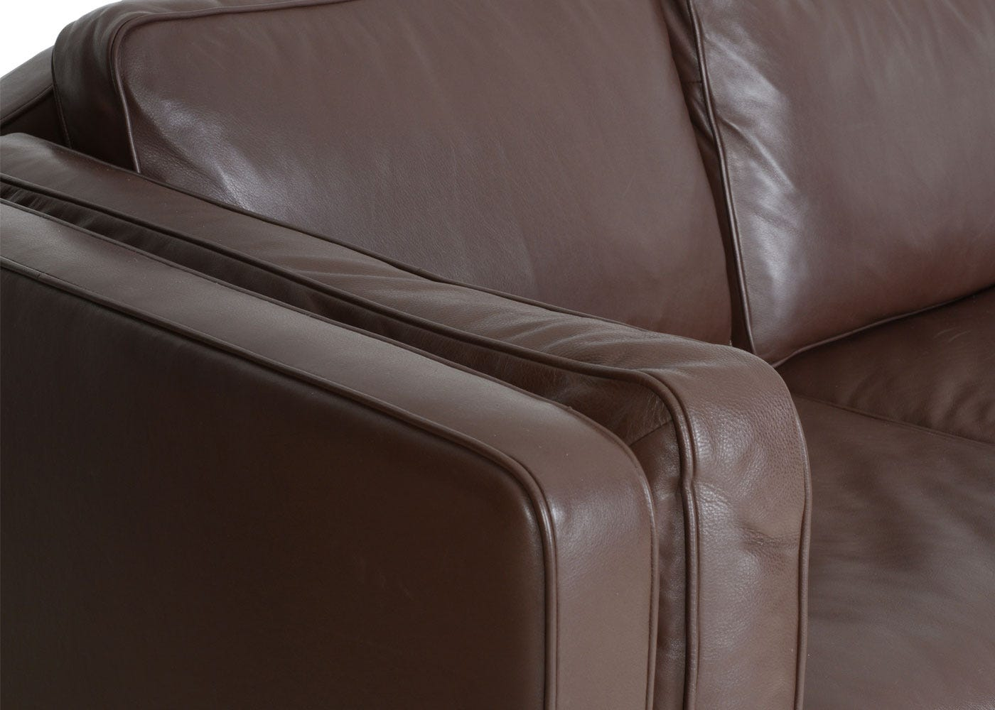 Chill 4 Seater Sofa in Soft Leather Suede Chocolate 7182 - material will age over time to create a unique patina