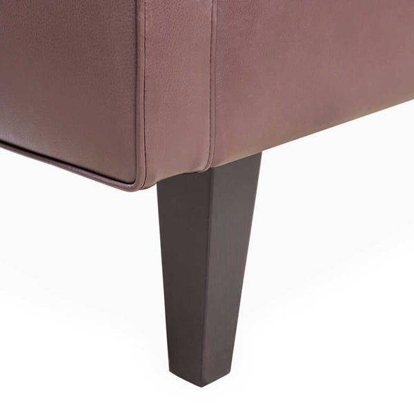 Tapered feet available in wenge black, walnut or natural finish