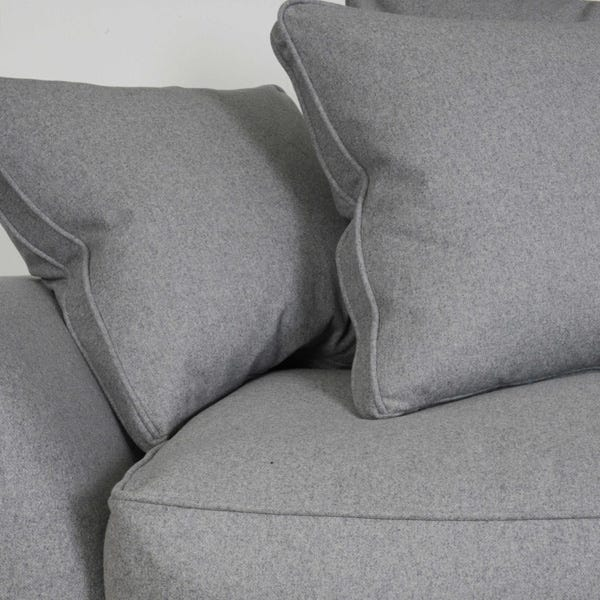 Sofa comes with sumptuous scatter cushions, creating added comfort