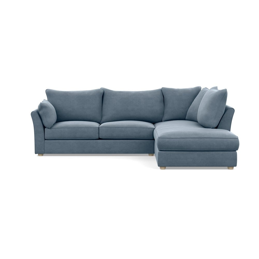 Tailor Right Hand Facing Corner Sofa Linen Mineral Natural Feet