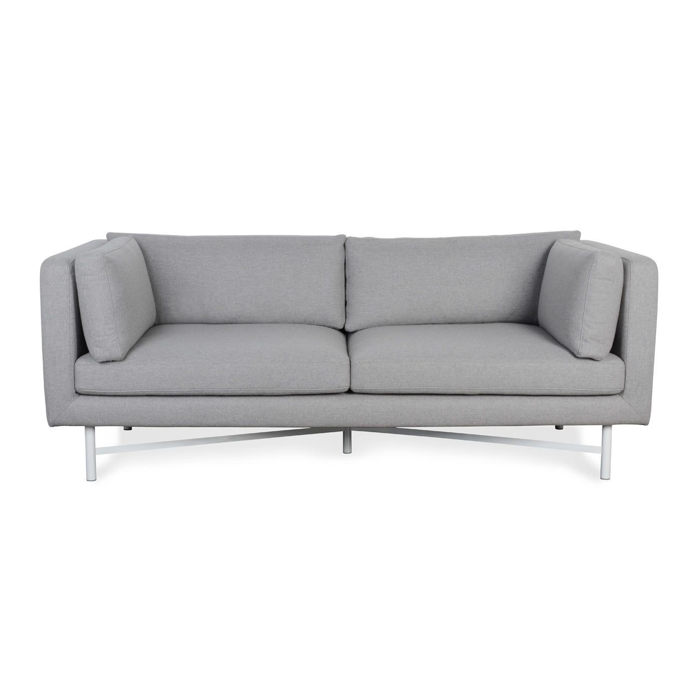 Dodie 3 Seater Sofa Wool Felt Flint - Warehouse Sale