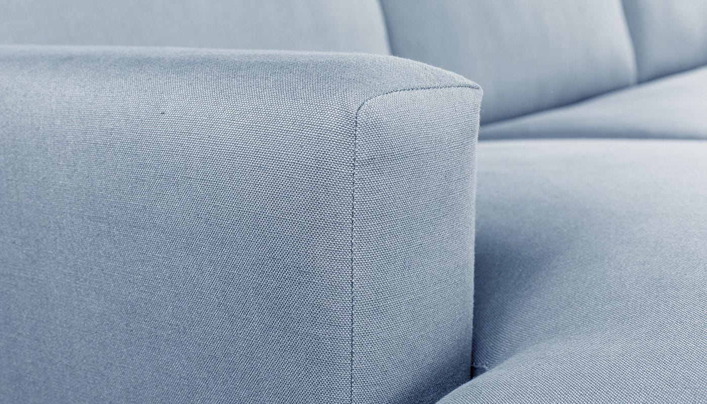 Nimbus Armchair in Capelo Linen-Cotton Mineral with Black Feet