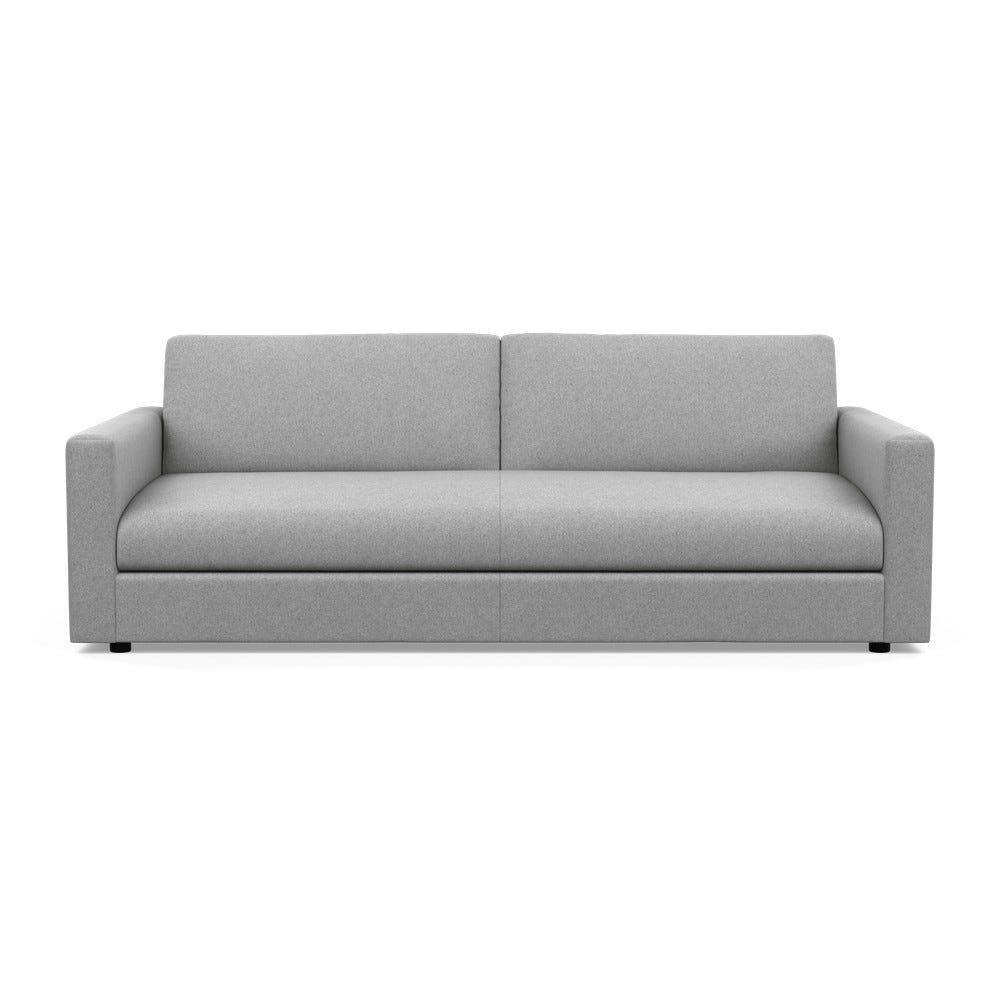 Nimbus 4 Seater Sofa Cotton Pewter Black Feet