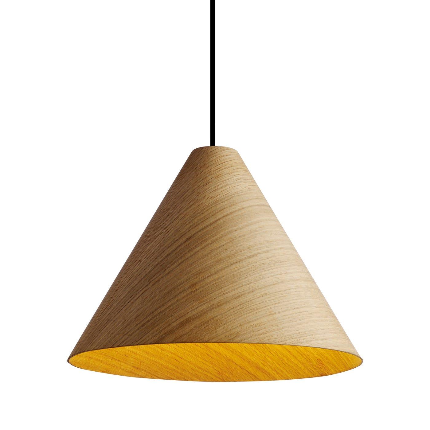 30degree Oak Pendant Shade Large
