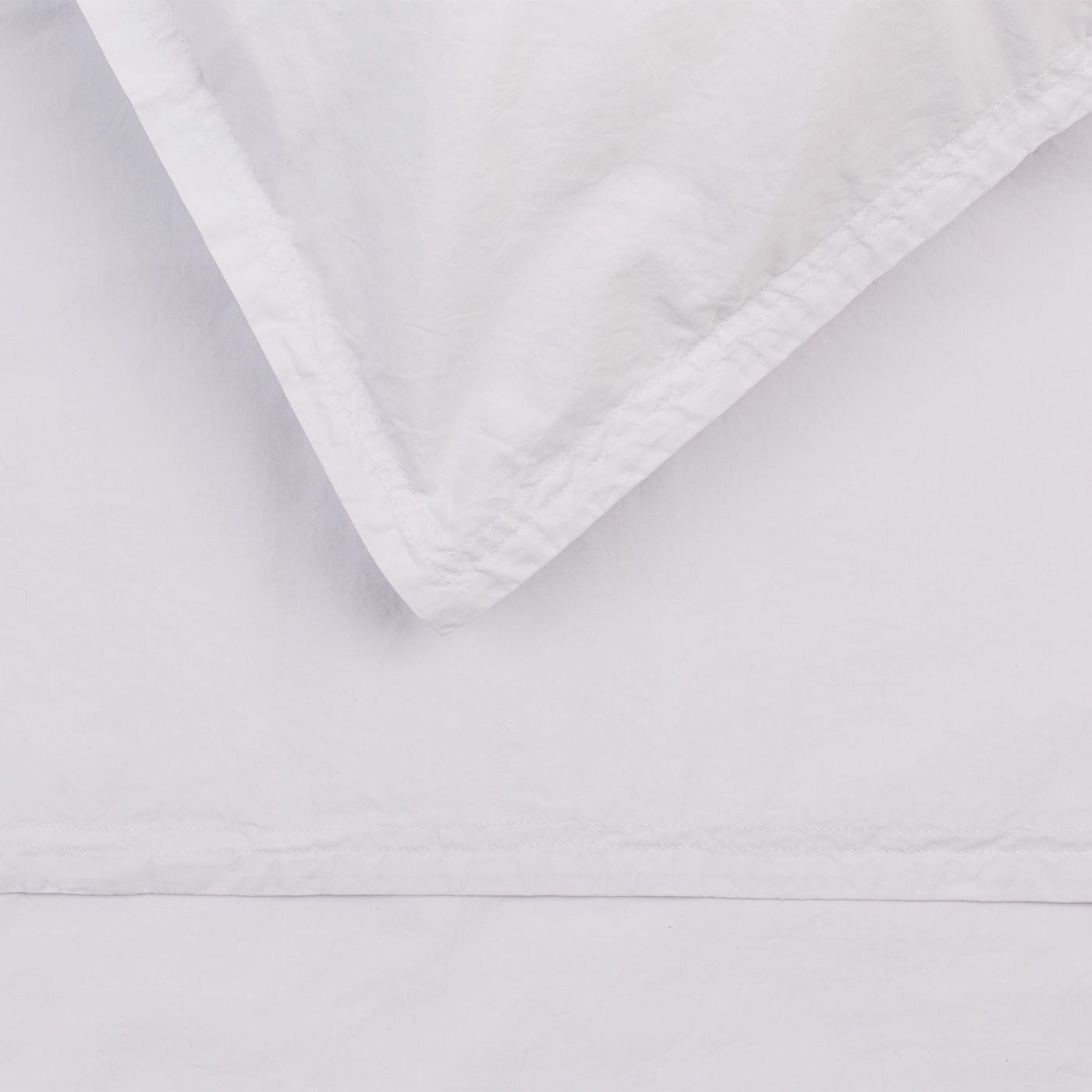 Washed Cotton Soft Grey Double Fitted Sheet