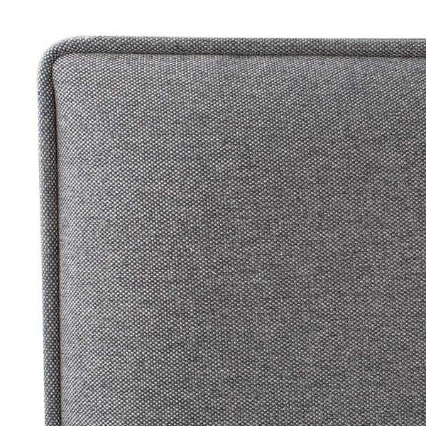 Neatly upholstered grand headboard in Charcoal grey.