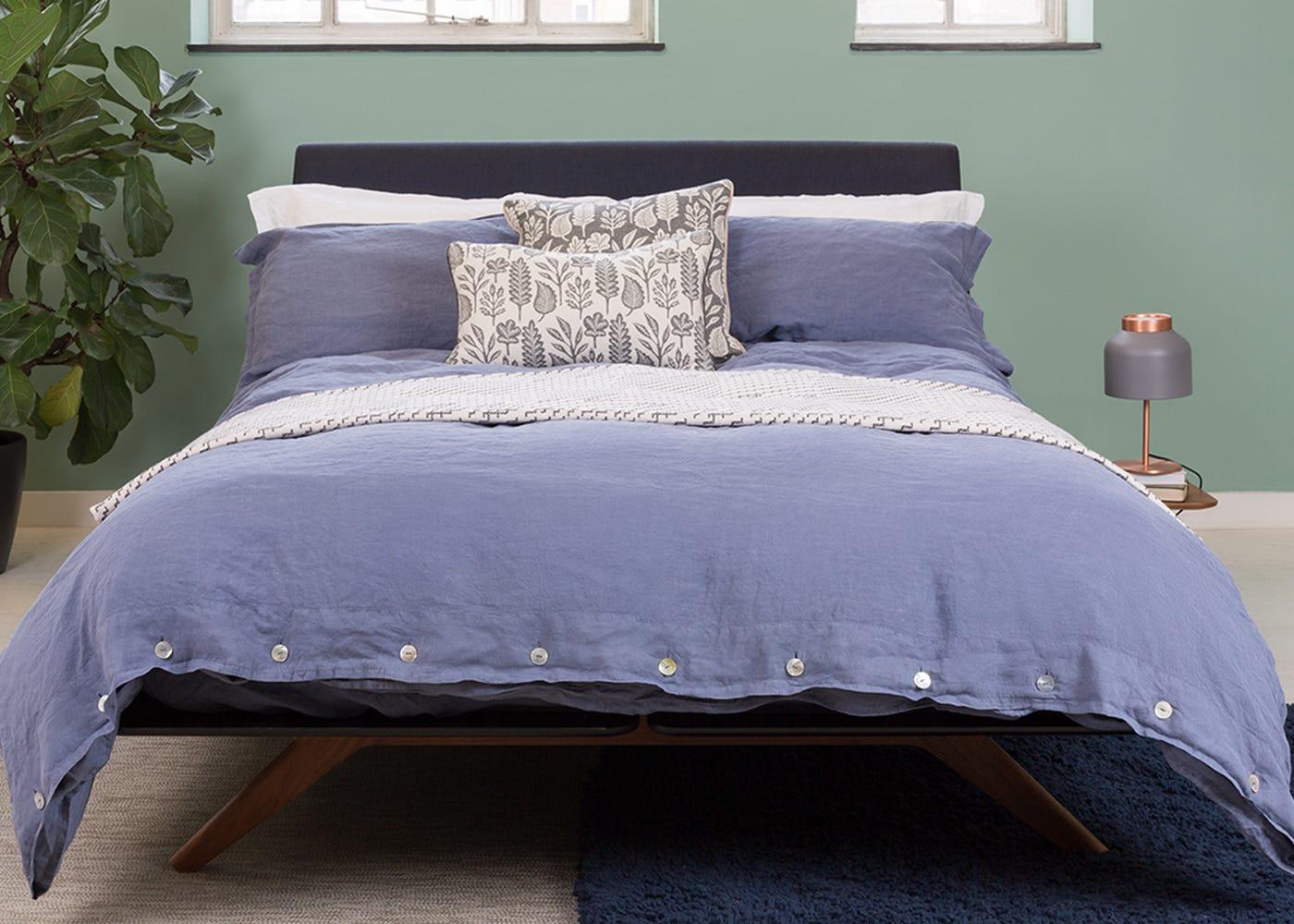 100 bedding linen christy snowflower bed linen christy popular green bed linen buy cheap - Green pixel bedding ...