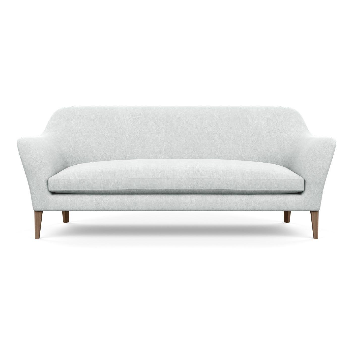 Wallis 4 Seater Sofa Broad Weave Tin Walnut Feet