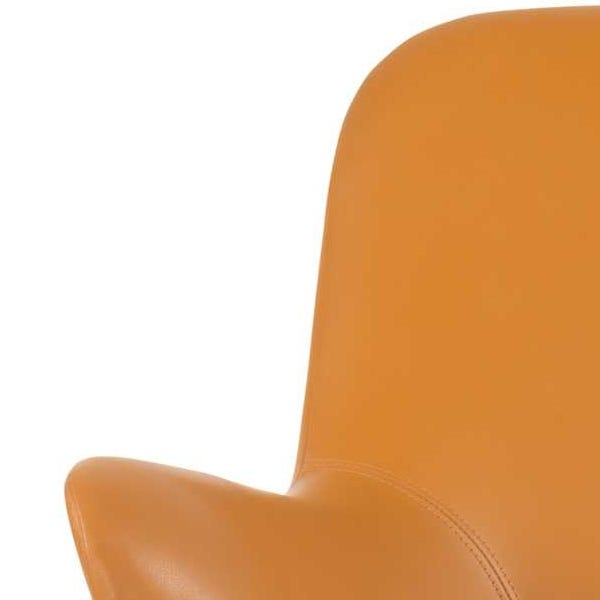 Elegant and curvaceous silhouette upholstered in buttery soft leathers