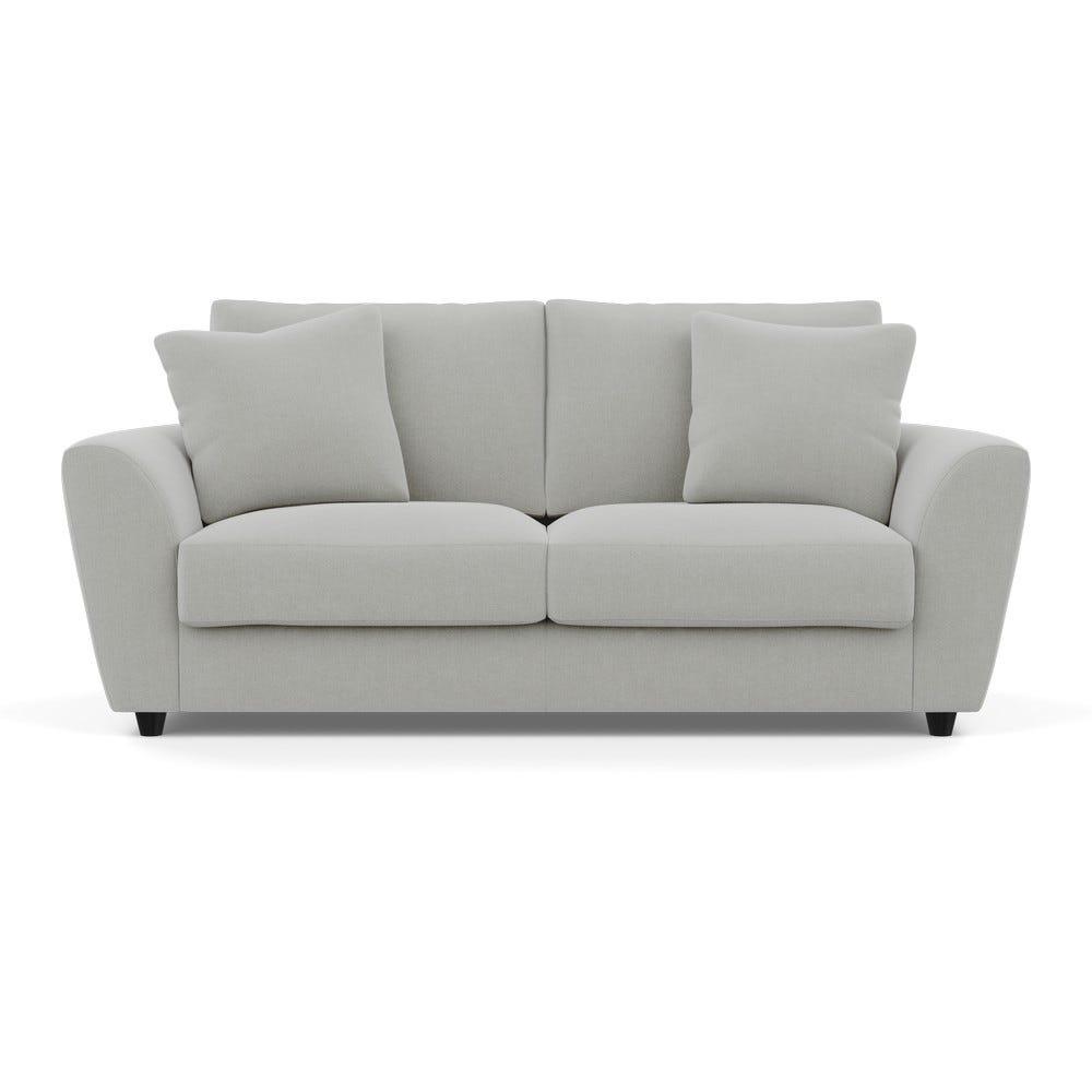 Snooze Sofa Bed Denim Cotton Grey Black Feet