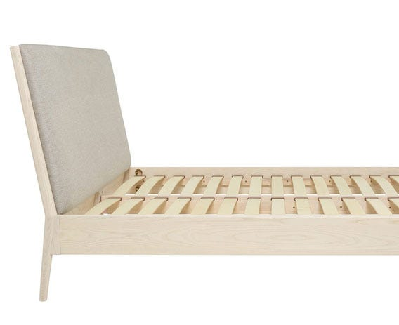 The Salina bed comes with pre-sprung wooden slats for a good nights sleep.