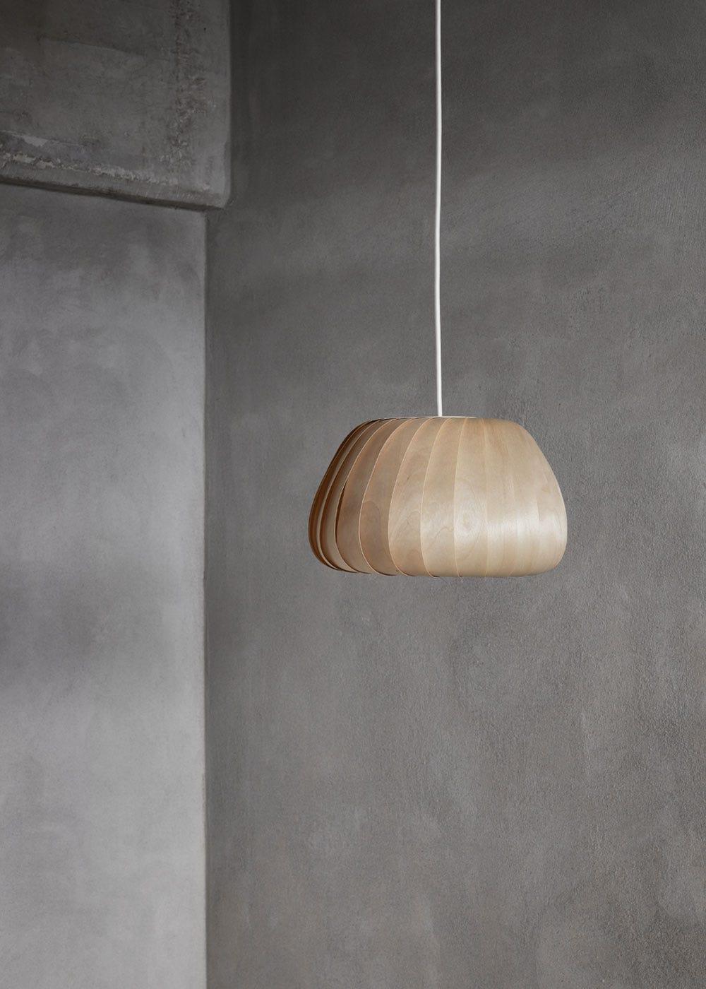 As shown: TR19 Pendant Light - Natural Birch.