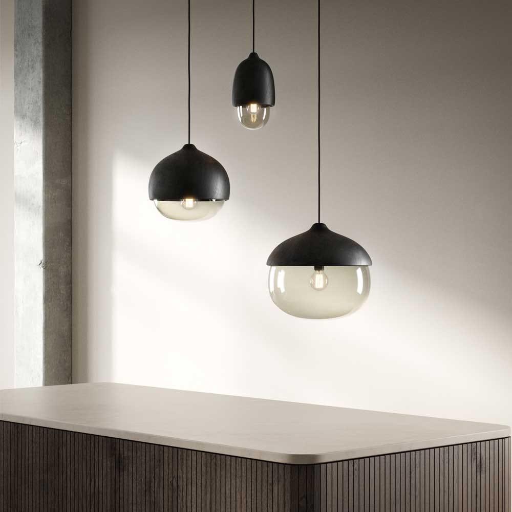 As shown: Terho Pendant Black Lacquered Collection.
