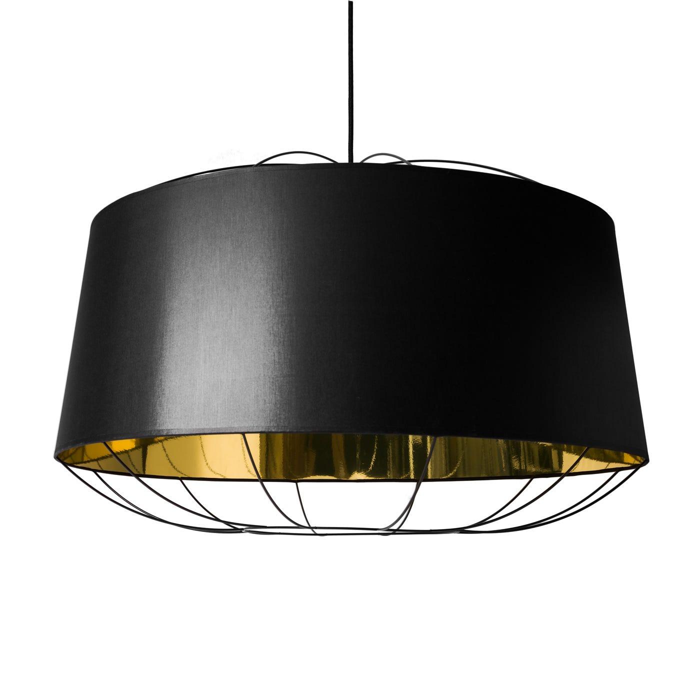 Lanterna Pendant Lamp Black and Gold