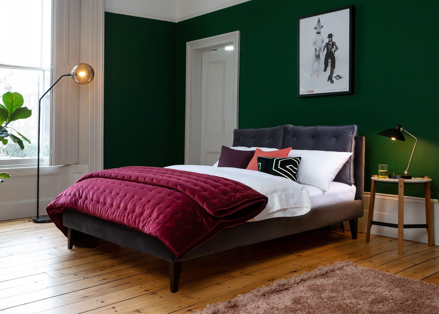 Upholstered in Smart Velvet Grey