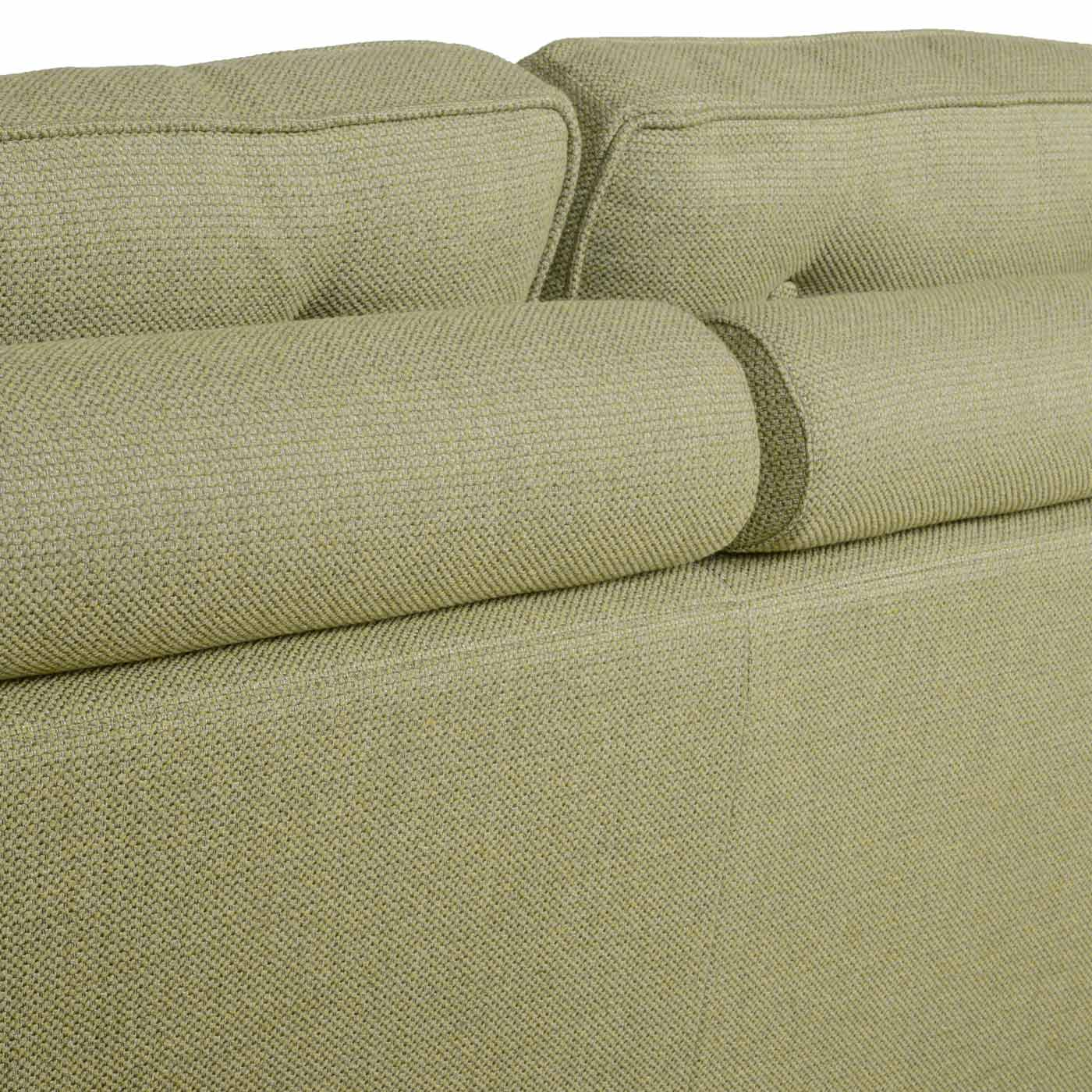 Bolster on back cushion for support