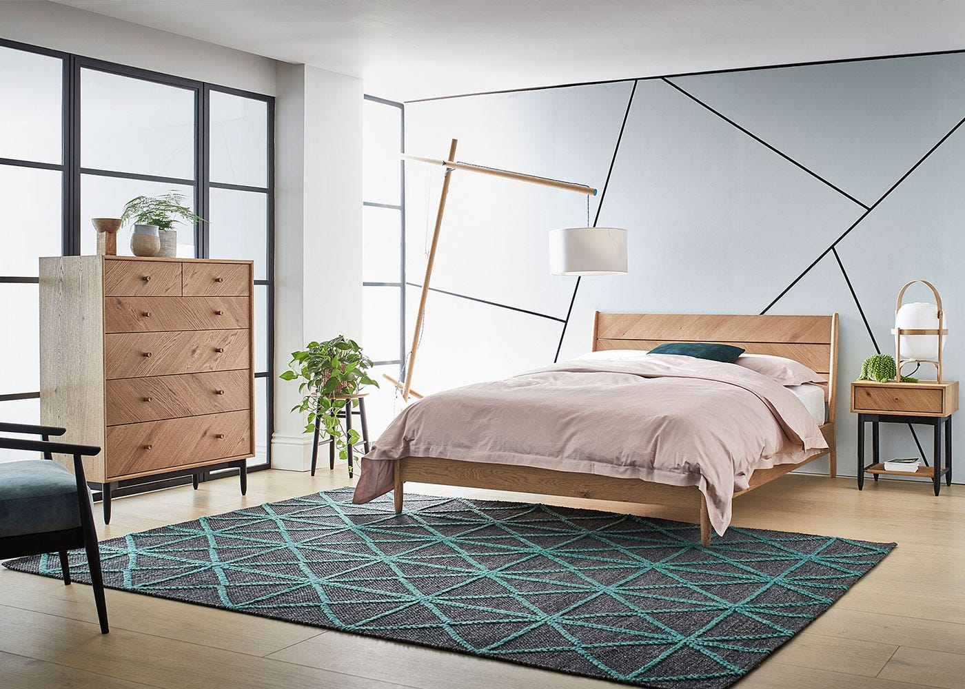 As Shown: Monza bedroom collection