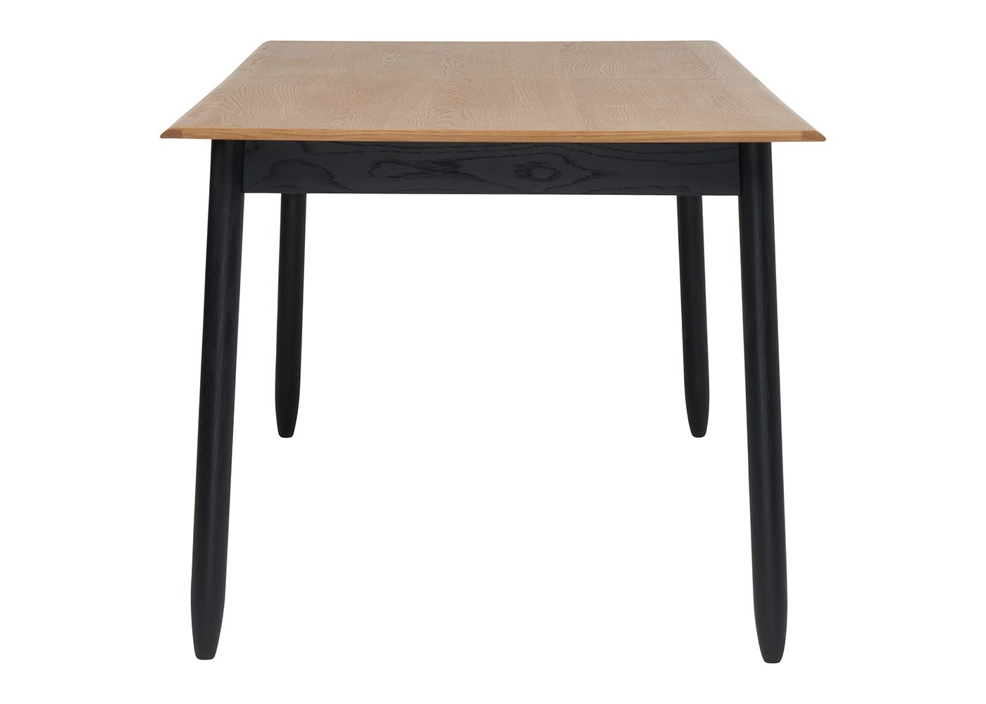 Monza Dining Table - End View - Not Extended