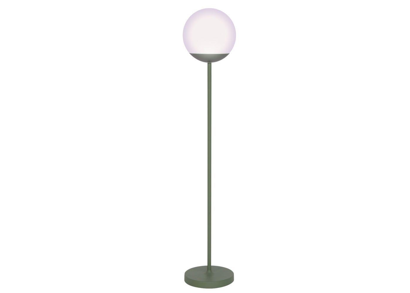As shown: Mooon outdoor floor lamp in cactus finish.
