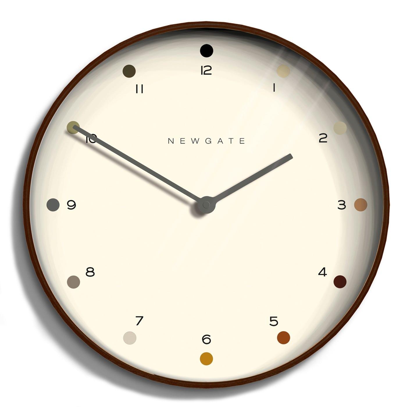 Mr Clarke Wall Clock Dark Dot Large