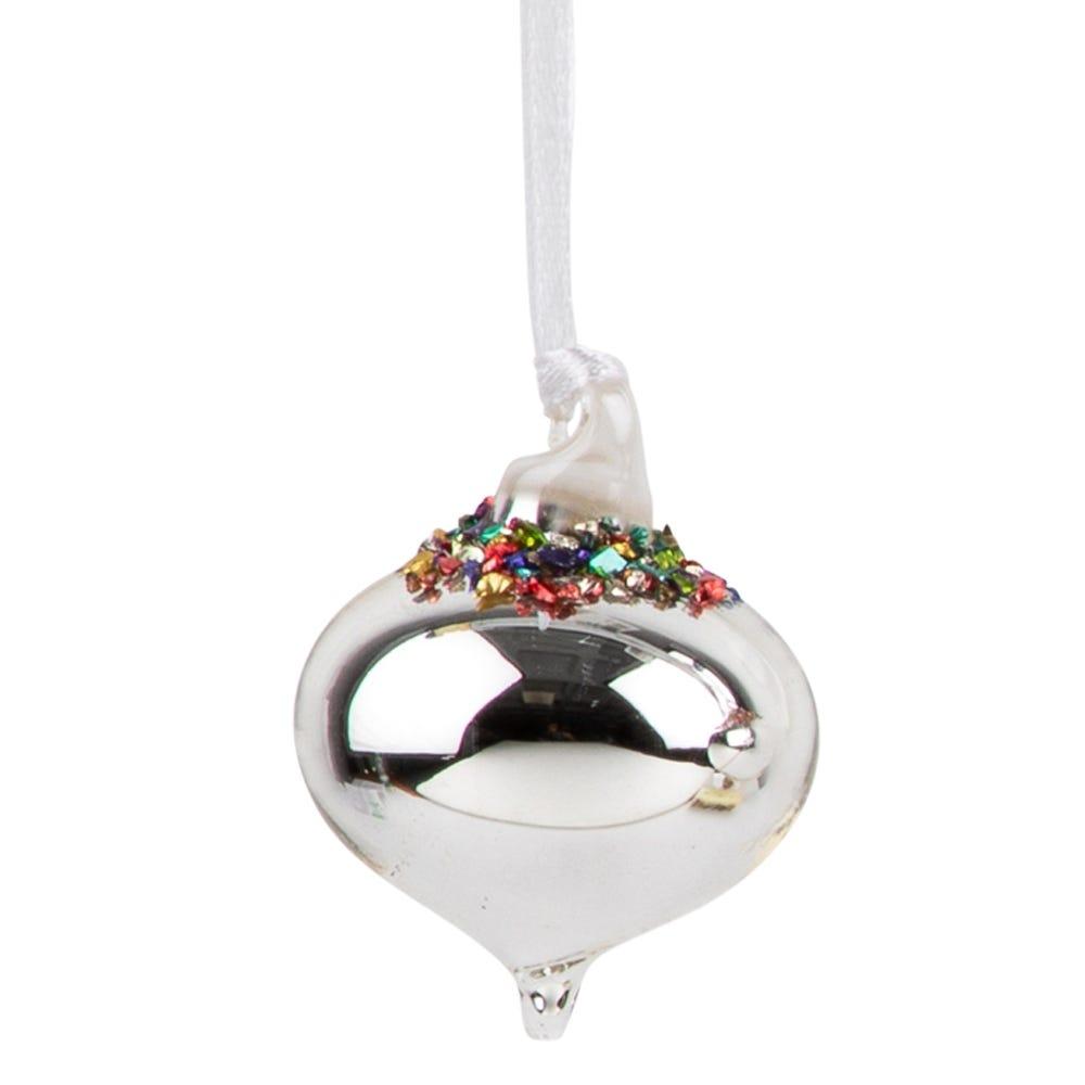 Multicoloured Bead Silver Sultan Small Decoration 4cm