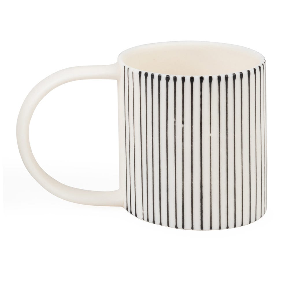 Lined Espresso Cup White