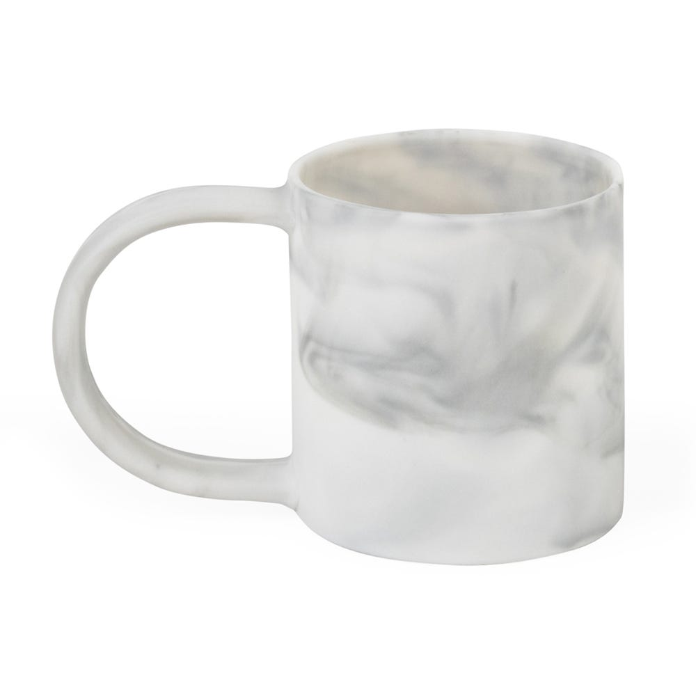 Marbled Espresso Cup White