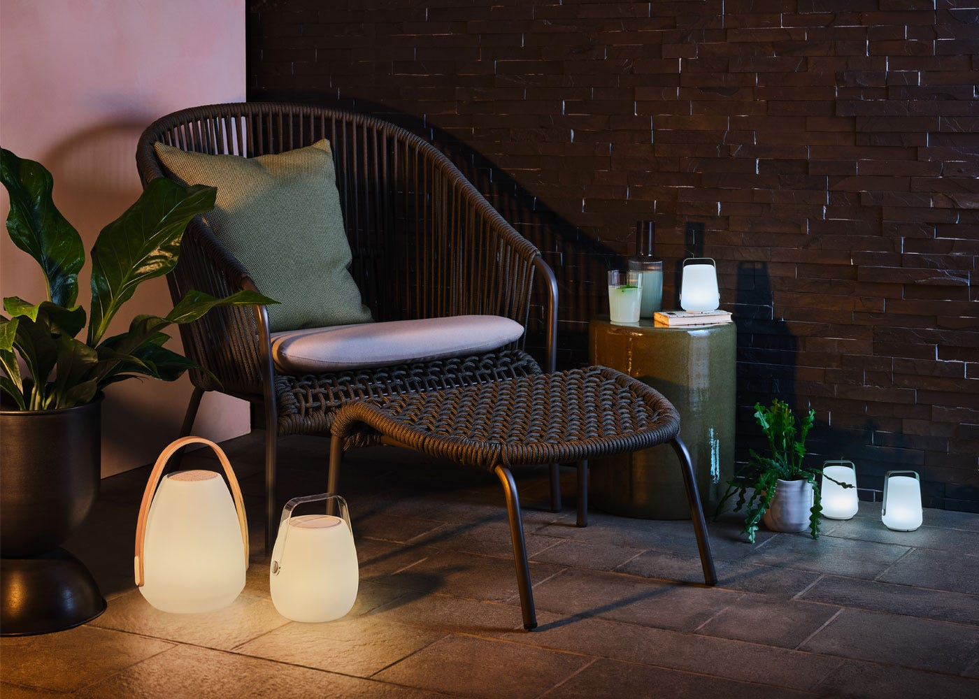 Heal's filo lounge chair with the Neptune portable speaker.