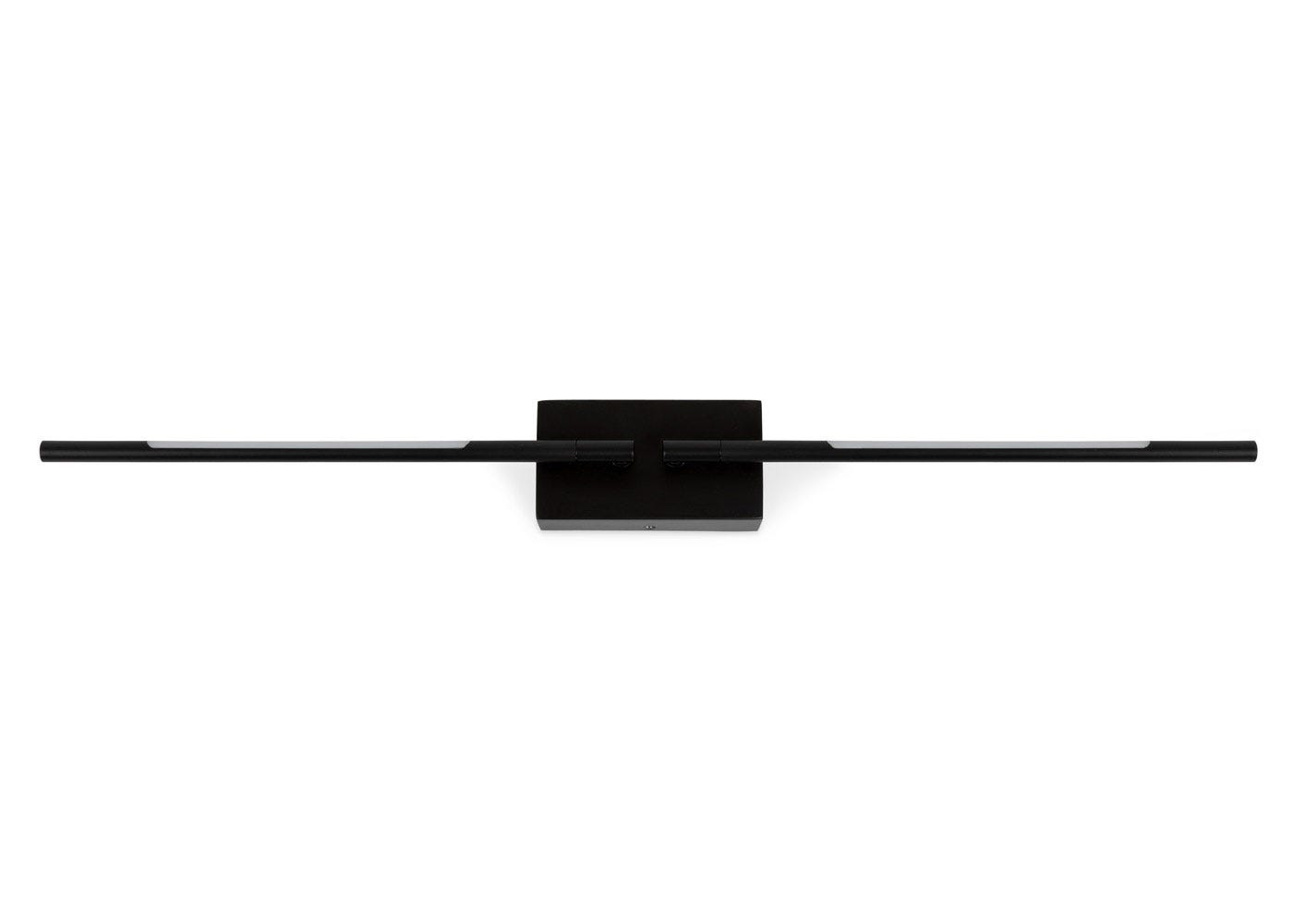 As shown: Saber LED wall light in black