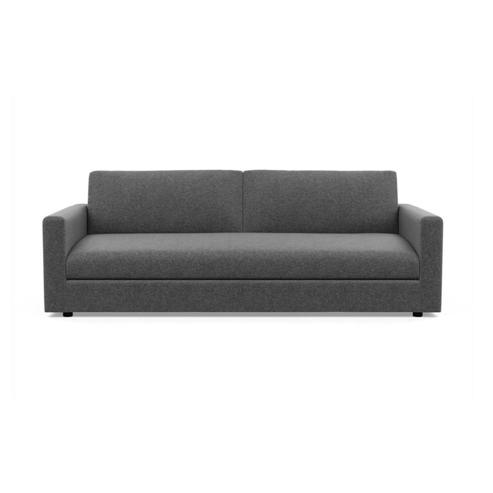 Nimbus 4 Seater Sofa Wool Felt Armour Black Feet -  DISC