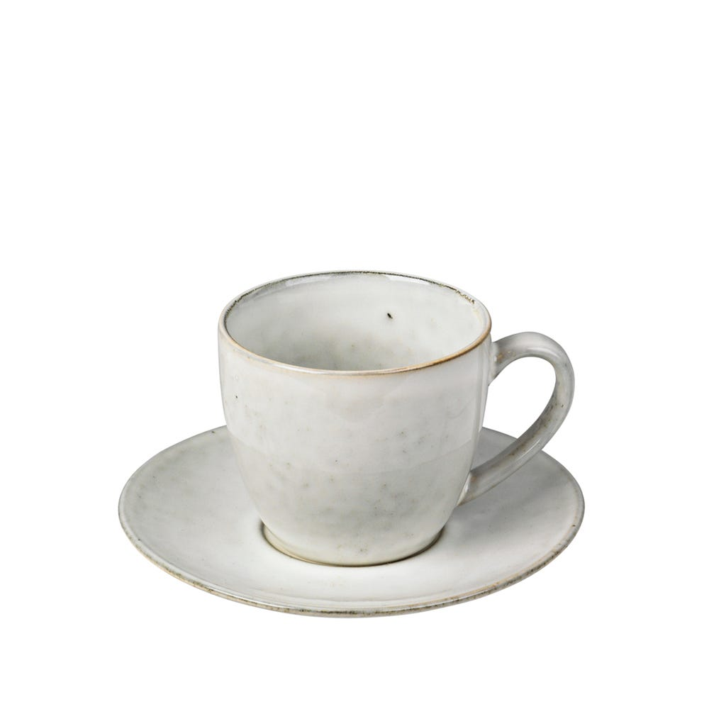 Nordic Sand Cup with Saucer