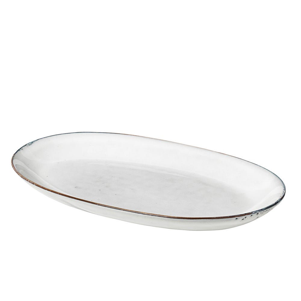 Nordic Sand Oval Plate Large