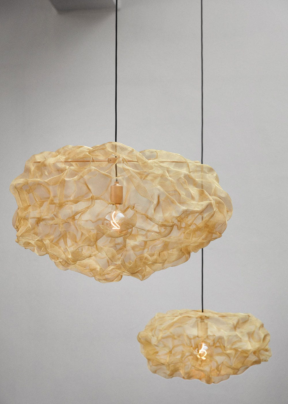 As shown: Heat Pendant Brass Large and small