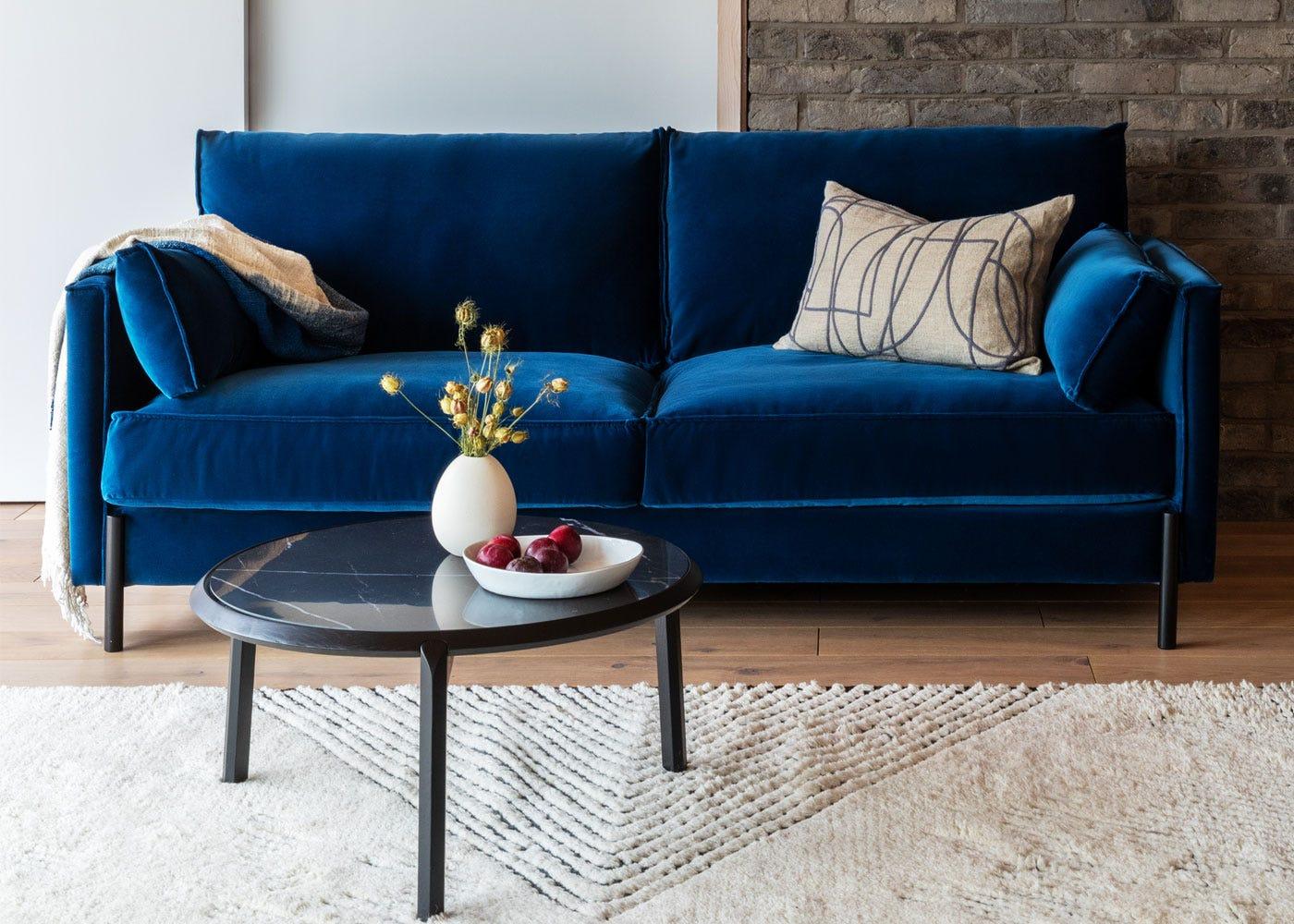 Tortona sofa, Notch coffee table
