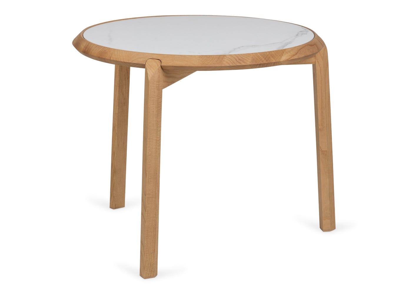 As shown: Notch side table