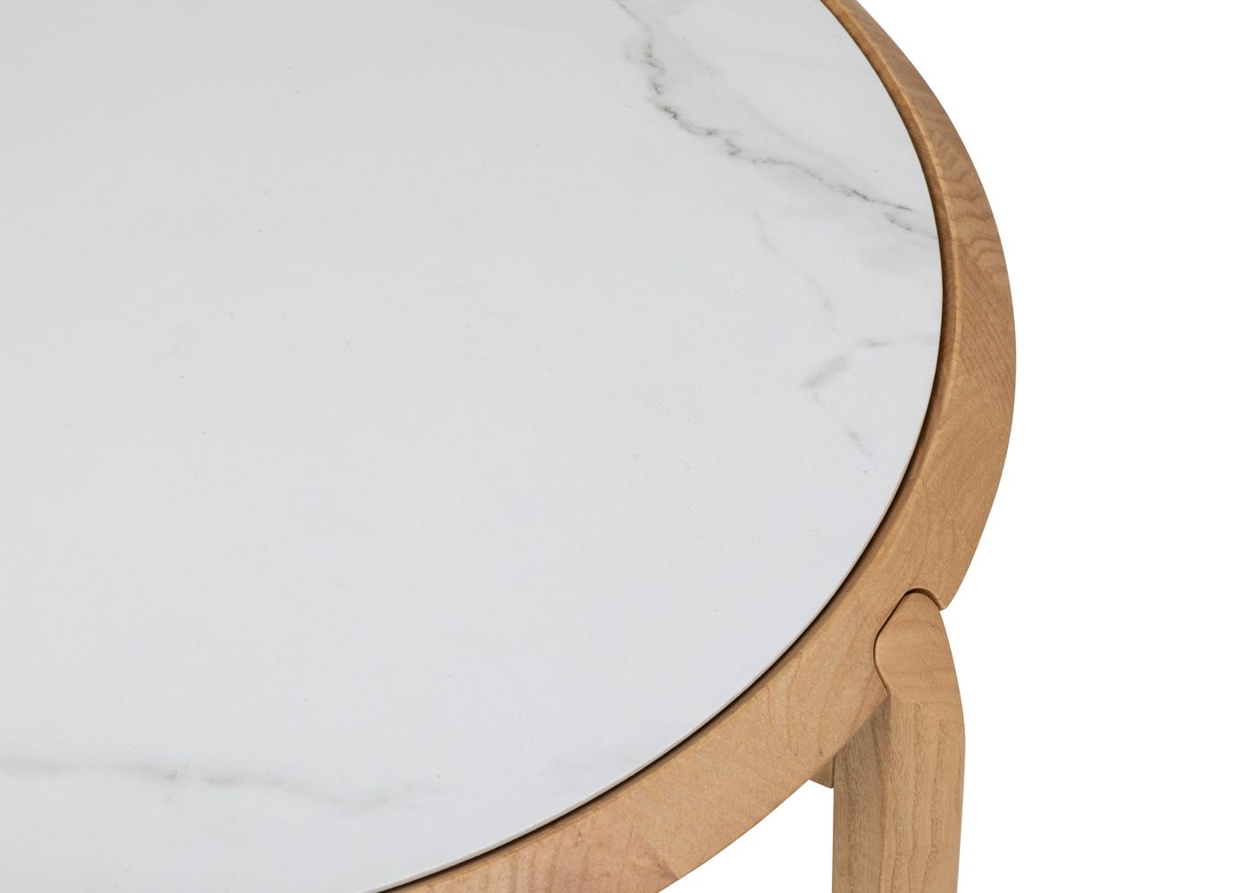 As shown: White marble top.