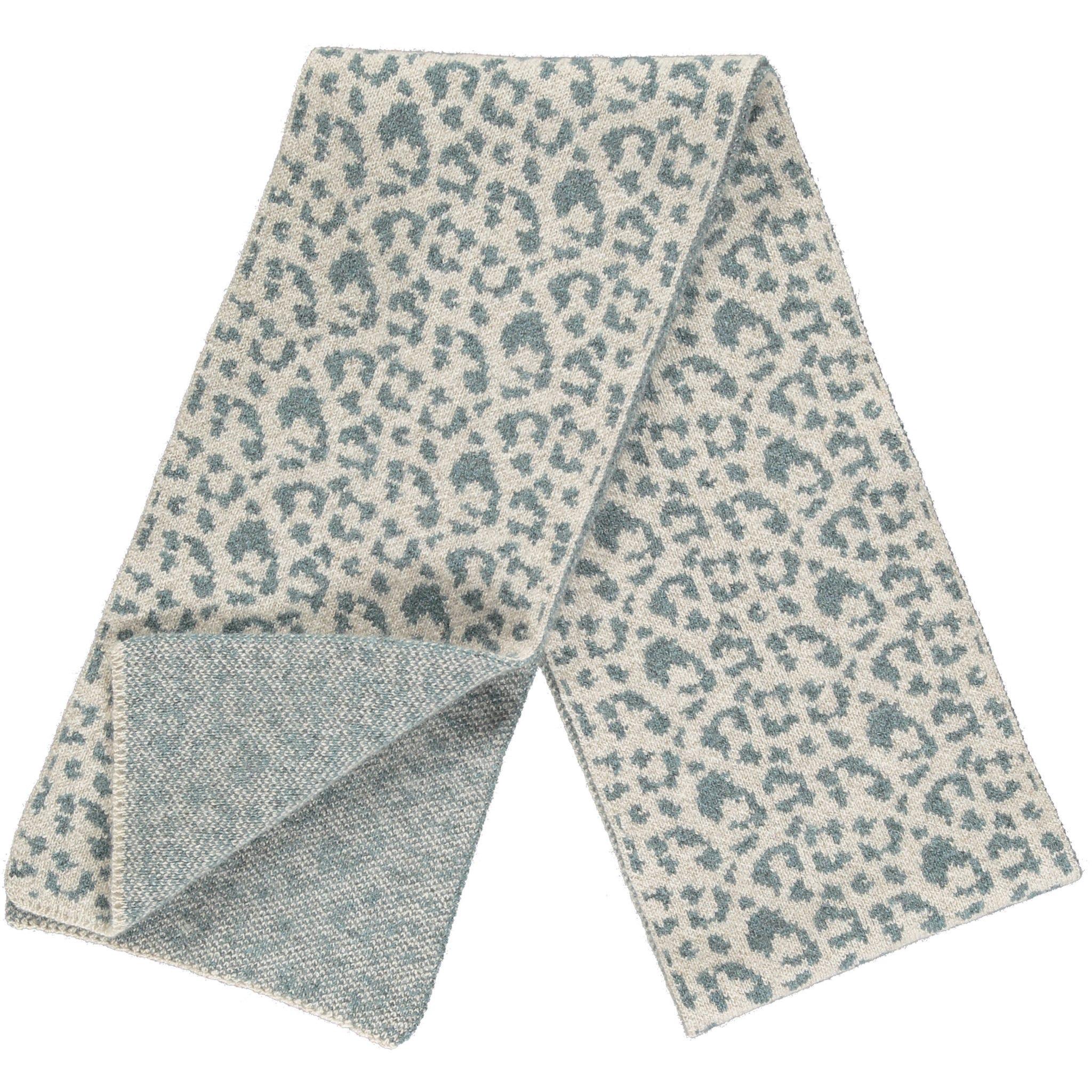 Leopard Design - Cream and Blue